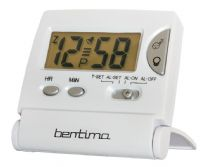 Acctim Mini LCD Flip Alarm - Pearl White